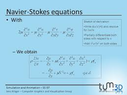 29 navier stokes equations simulation and animation ppt