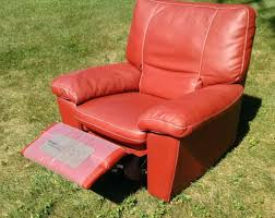 red leather club chair small vintage keller scarlet bonded swivel