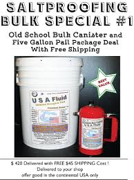 usa fluid 5 gallon and canister special combo deal
