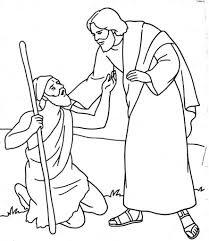 Interesting Jesus Heals Bartimaeus Coloring Page Luxury Blind