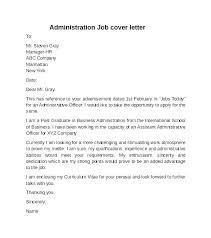 Admin Cover Letter Samples Sample Office Admin Cover Letter Office