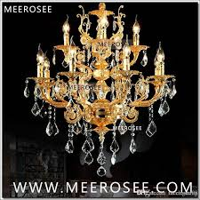 modern luxury 12 arms crystal chandelier lamp gold suspension re crystal light for foyer lobby md8857 l8 4 d750mm h750mm brushed nickel chandelier oil