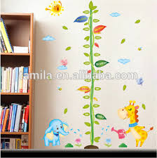 Baby Height Wall Chart Fashion Kids Height Growth Chart Wall Sticker Giraffe Wall Chart For Baby Learning Height Measurement Kid Animals Buy Numbers Wall Charts For