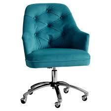 tufted desk chair. Peacock Velvet Tufted Desk Chair L