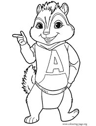 Alvin And The Chipmunks Song Coloring Pages Print Coloring