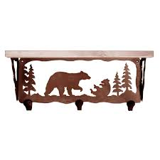 Western Coat Rack Bear Family Coat Rack With Shelf 100 Inch 52
