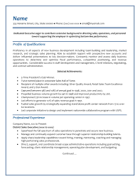 Executive Resume - Sample # 2