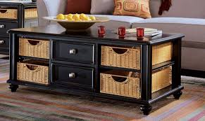 Coffee Tables With Basket Storage Coffee Table Perfect Coffee Table With Storage Decor Modern