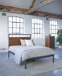 industrial style bedroom furniture. baxter square bed industrial warehouse vintage style bedroom furniture from lombok