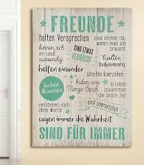 Mdf Wandbild Spruch Weisheiten Freunde Dekoration Tafel Schild 41777