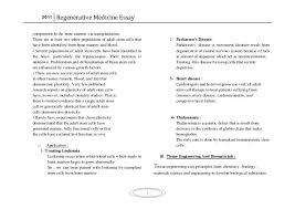 regenerative medicine essay 5