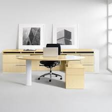 contemporary office desk furniture. delighful desk furniture  adorable office design ideas with maple wood furniture in  gloss finish and black leather in contemporary office desk