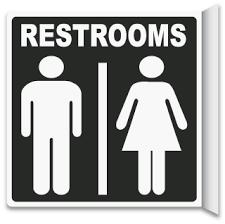 bathroom door signs. Brilliant Signs 2Way Restrooms Sign For Bathroom Door Signs T