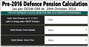 7th Pay Commission Pension Calculator For Pre 2016 Cg