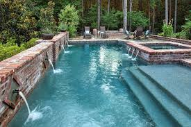 above swimming pool spa by morehead pools shreveport louisiana usa
