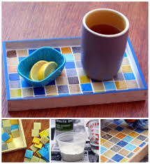 mosaic tray tutorial