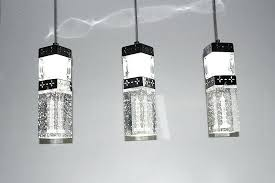 bubble light fixture furniture great pendant modern led crystal lamp multi inside glass bathroom fixtures
