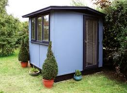 Smart garden office Upvc Finished With Solid Colour Stain Faacusaco Solid Colour Stain Used On Smart Garden Offices Owatrol Direct
