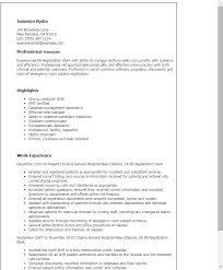 1 Er Registration Clerk Resume Templates Try Them Now Myperfectresume