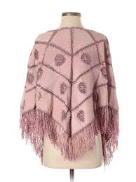 Details About Nwt Newport News Women Pink Poncho One Size