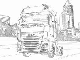Kleurplaat Vrachtwagen Scania Elegant Vrachtwagen Kleurplaat Daf