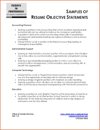 Objective Statement For Resume Sample Gallery Creawizard Com