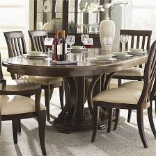 Oval Kitchen Table Pedestal Bernhardt Westwood Oval Double Pedestal Dining Table With Leaves