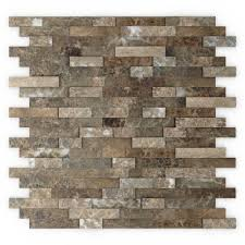 inoxia sdtiles bengal brown 11 77 in x 11 57 in x 8 mm stone self adhesive wall mosaic tile usis313 2 the home depot