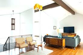 mid century ceiling light mid century ceiling fan modern living room with table lamp exposed beams mid century ceiling light