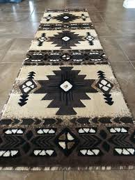 southwest native american runner area rug berber beige concord design c318 2