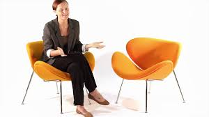 replica pierre paulin orange slice chair from matt blatt