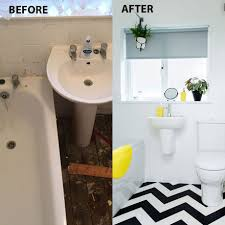 Before and after: a chevron floor works wonders in this updated ...