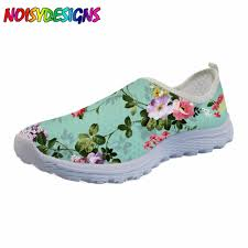 Floral Design Shoes For Ladies Noisydesigns Fashion Women Brand Girls Shoes Floral Style