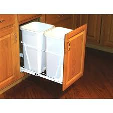 Trash Can Insert Holder Cabinet Hidden Under Counter  Garbage Drawer Slide21