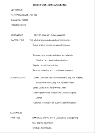 Resume Templates Word 2003 Custom Functional Resume Template Word 28 Templates Free With Basic