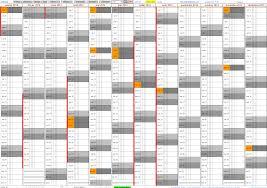 calendrier excell un calendrier excel magique