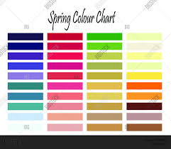 Die Spring Color Chart Spring Colour Chart Image Photo Free Trial Bigstock
