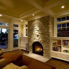Center Of The Room Stone Fireplace Design, Pictures, Remodel, Decor and  Ideas -