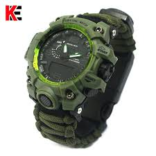 <b>Outdoor</b> Camping <b>Survival Watch Multi functional Paracord Watch</b> ...