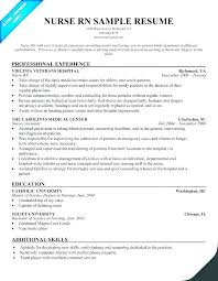 Objective Statement For Nursing Resume Registered Nurse Resume