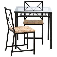Ikea Table And 2 Chairs Black Glass 621023821216 Walmartcom