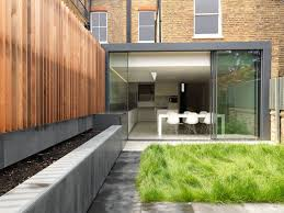 Home Interiors:Wonderful House With Glass House Extension Design Ideas Modern  Glass House Extension Design