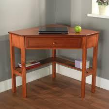 corner writing desk oak