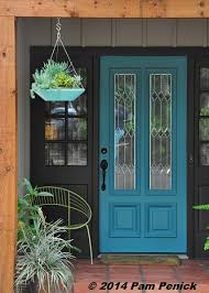 Turquoise front door Paint And The Front Doors New Color Isu2026 Pam Penick And The Front Doors New Color Is Digging
