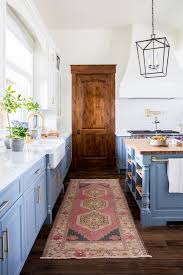 vintage rug in the kitchen decor