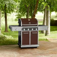 kenmore elite grill 6 burner. kenmore elite 600 series 4 burner dual fuel maroon metallic gas grill - limited availability | shop your way: online shopping \u0026 earn points on tools, 6 t