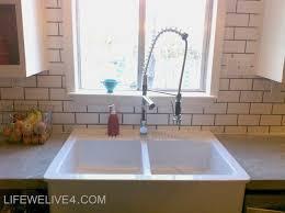 install subway tile backsplash kitchen