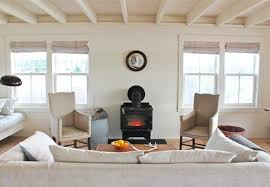 at harbor cottage in maine all the furniture even the woodstove has been