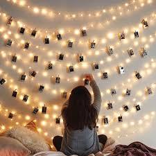 Dây đèn LED kẹp ảnh thẻ treo tường trang trí đa ứng dụng