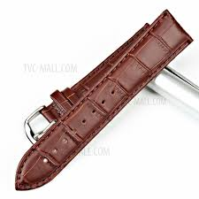 premium bamboo joint calfskin leather watch band strap for man and woman dark brown